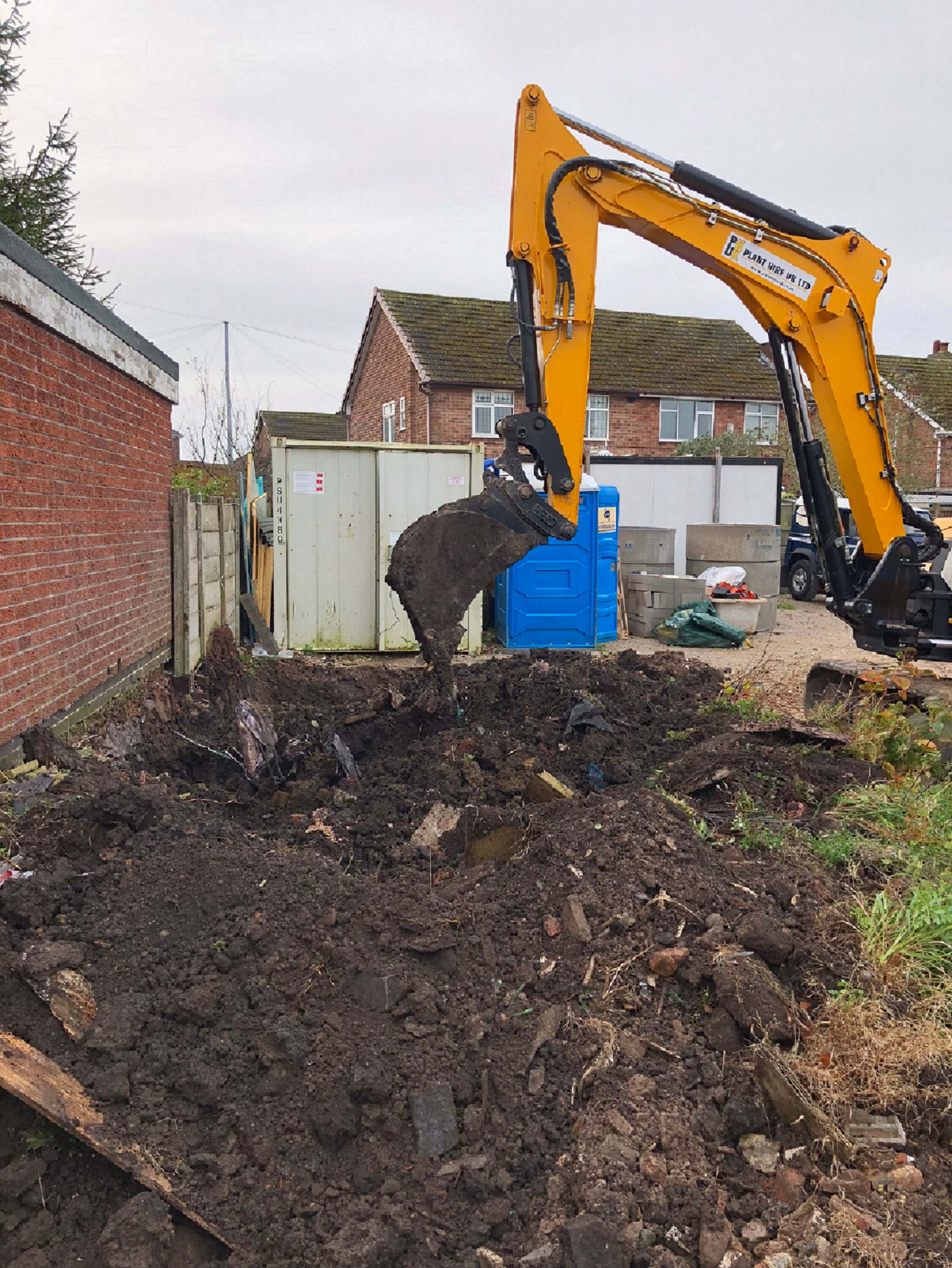 Excavation of Japanese Knotweed for a leading UK based construction company